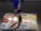 20120424の朝食。ムースカスタードクリーム、焼鳥&マヨネーズ。