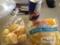 20120423の朝食。ホットケーキ、モッチーボール。