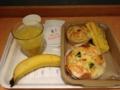 20120523の朝食。ヴィドフランス。クロックムッシュ、タルタルエビマヨ