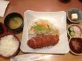 20120604の食事。KYK。ヘレカツ膳。