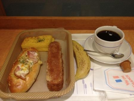20120620の朝食。ヴィドフランス。クロックムッシュ、カラメルチーズパ