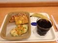 20120705の朝食。ヴィドフランス。枝豆チーズ、クロックムッシュ、大倉