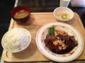 20120707の食事。ワンコインステーキ。Wステーキ定食。