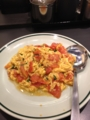 20120708の夕食。大阪王将。トマトと玉子炒め。