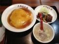 20120808の夕食。大阪王将。極天津飯セット。