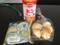 20120904の朝食。モッチーボール、うさぎのほっぺ。