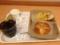 20120905の朝食。ヴィドフランス。バターパン、枝豆チーズ、クロックム