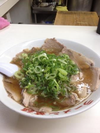 20120906の夕食。萬福。しょうゆラーメン。