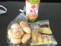 20120918の朝食。どらやきプリン、モッチーボール。
