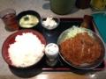 20121127の夕食。祭太鼓。塩とんかつ丼。