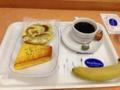 20121128の朝食。ヴィドフランス。クロックムッシュ、スピナッチチーズ