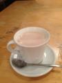 20130109の夕食。common cafe。トアル食堂。カフェオレ。