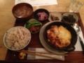 20130116の夕食。common cafe。トアル食堂。