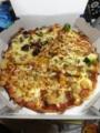 20130114の夕食。ドミノピザ。