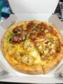 20130206の夕食。ドミノピザ。