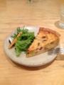 20130306の夕食。トアル食堂@common cafe。キッシュ。