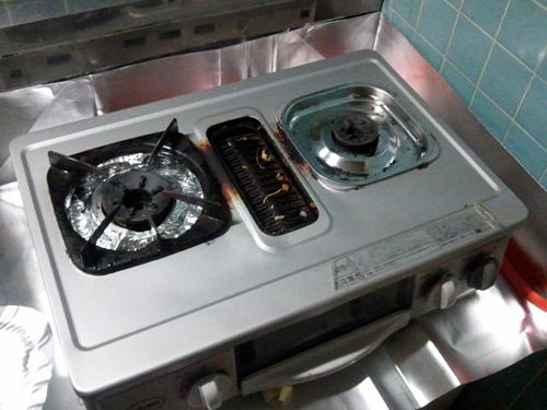 ガスレンジと換気扇の大掃除