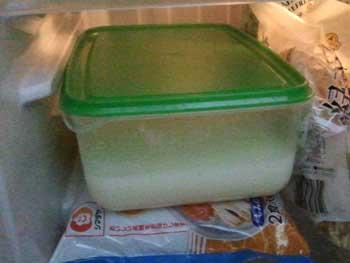 牛乳寒天の作り方…冷蔵庫で冷やす