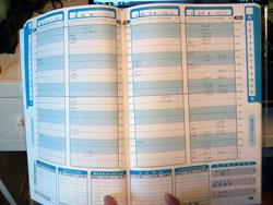 謎の数字がならぶ家計簿