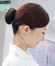 看護師の髪型「おだんご」