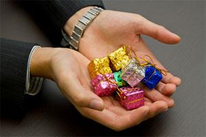 チョコレートでもいい。気持ちが伝われば。