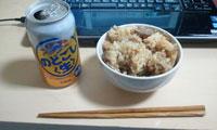 炊き込みご飯(昨日の残り)
