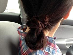 看護師の髪型 まとめ髪+ゴム