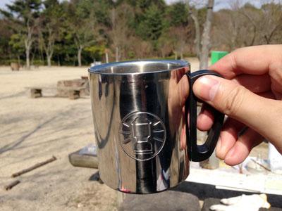 外で飲むコーヒー