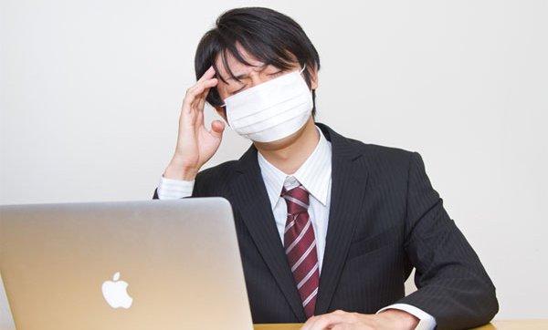 夫が風邪をひいた