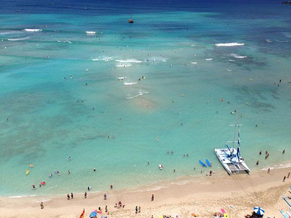 ワイキキビーチ in ハワイ
