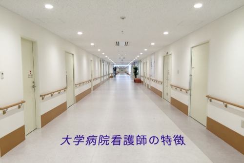 大学病院看護師の特徴