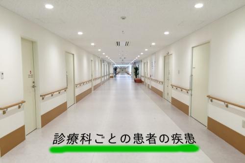 診療科ごとの患者の疾患