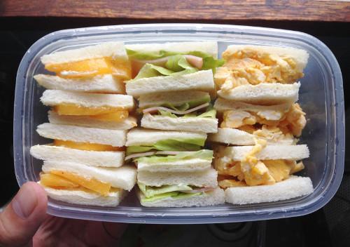 手作りサンドイッチ弁当