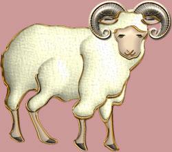 2015年の無料年賀状素材羊のイラストは角のある羊と無い羊