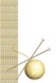 年賀状イラスト2015年の羊毛ニット柄背景サンプル