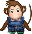 オーバーオールの猿ボーイ