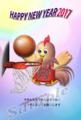 スポーツの年賀状|バスケットボール