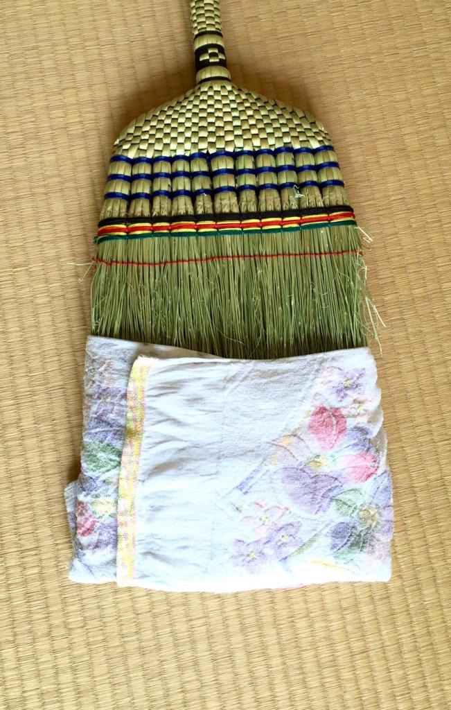 綺麗な雑巾で巻きます