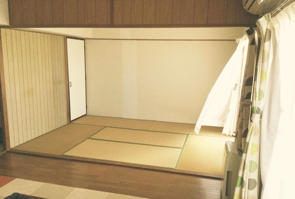 この畳の部屋が見えます。