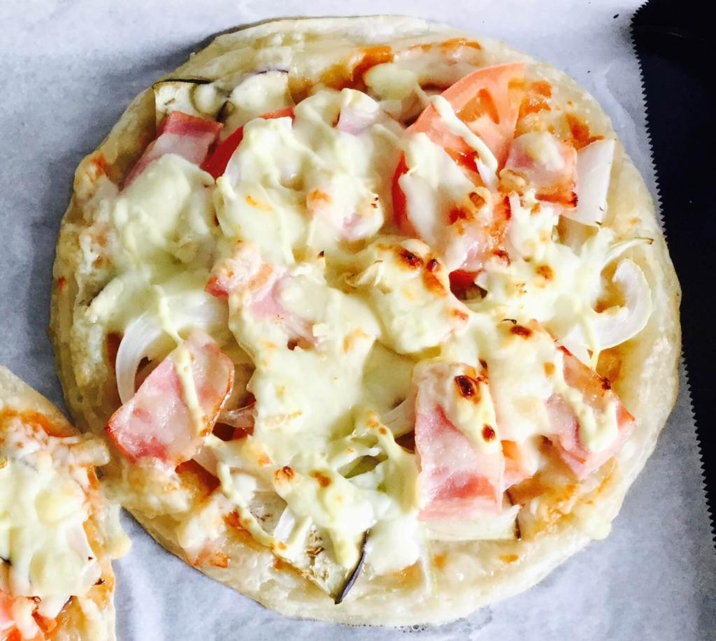パラタで作ったピザ