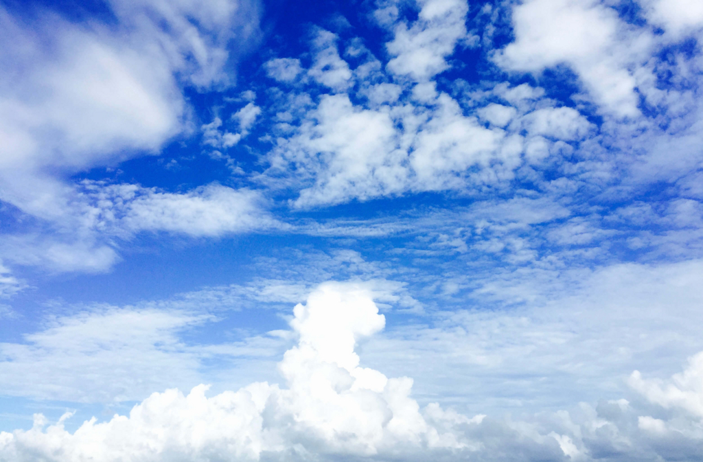私が撮った空です