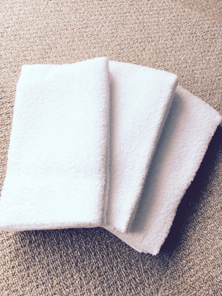 昔ながらの白いタオル中身