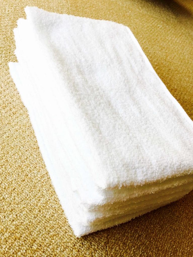 白いタオル 購入当時