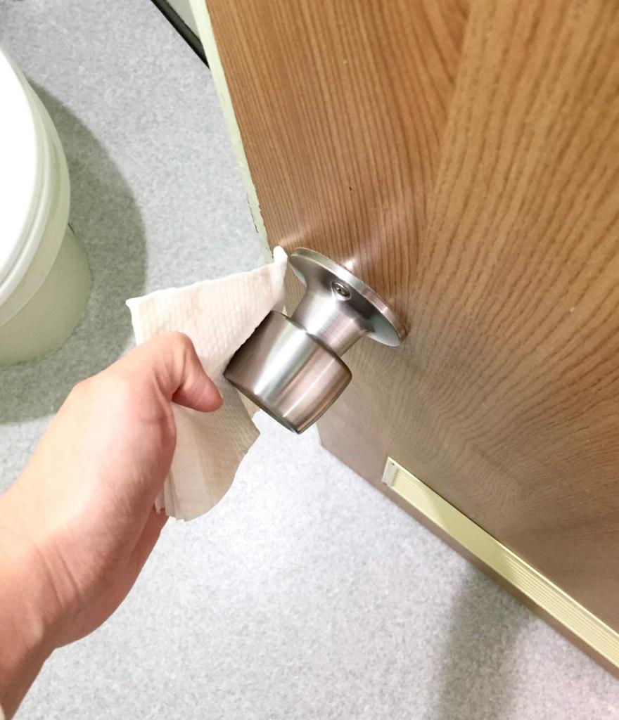 トイレそうじ1 ドア
