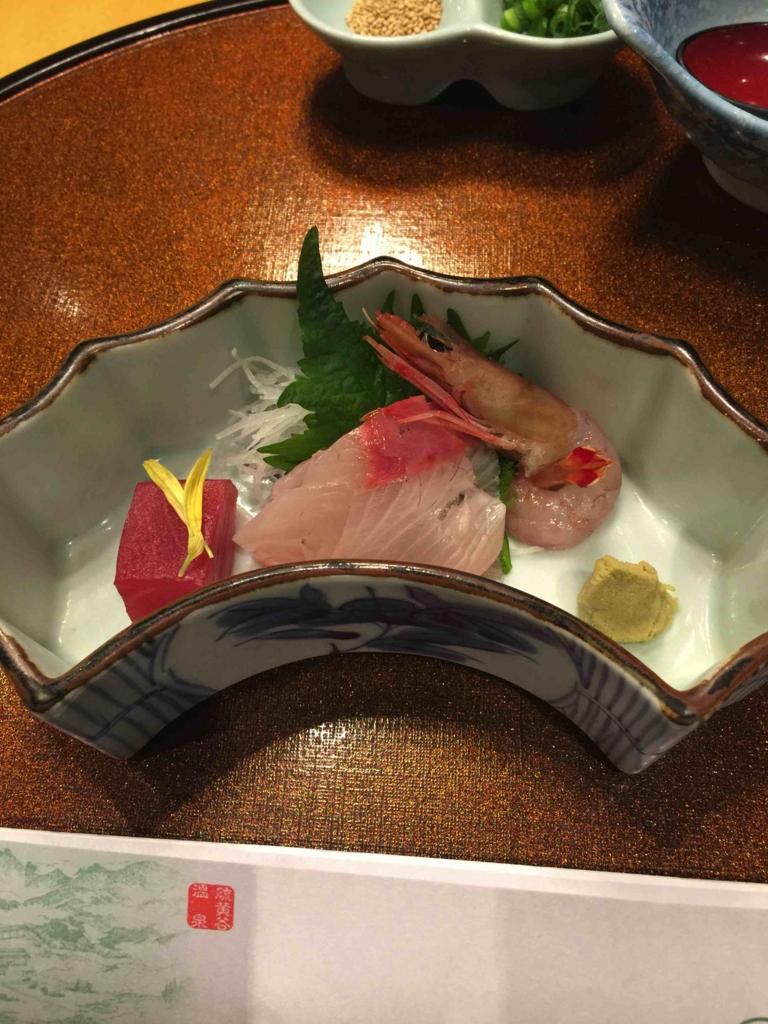 霧島ホテル 夕飯刺身