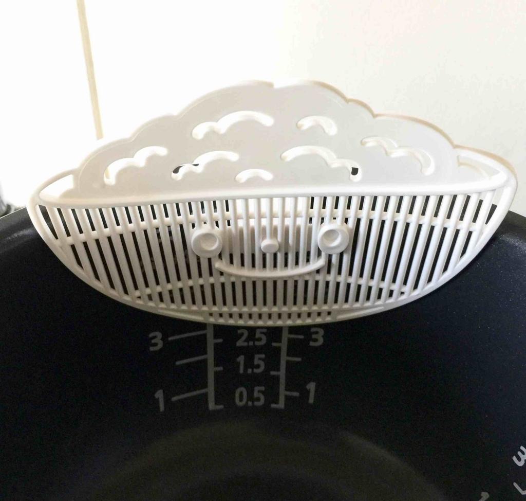 米ピタクリップを炊飯釜にセット