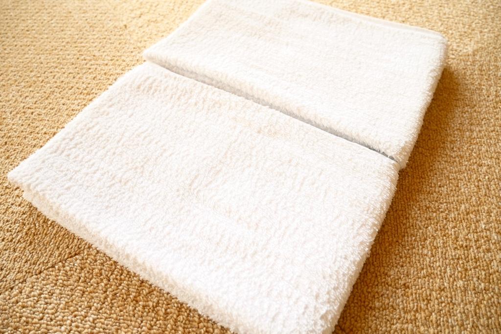 白いタオル 約2ヶ月半使用