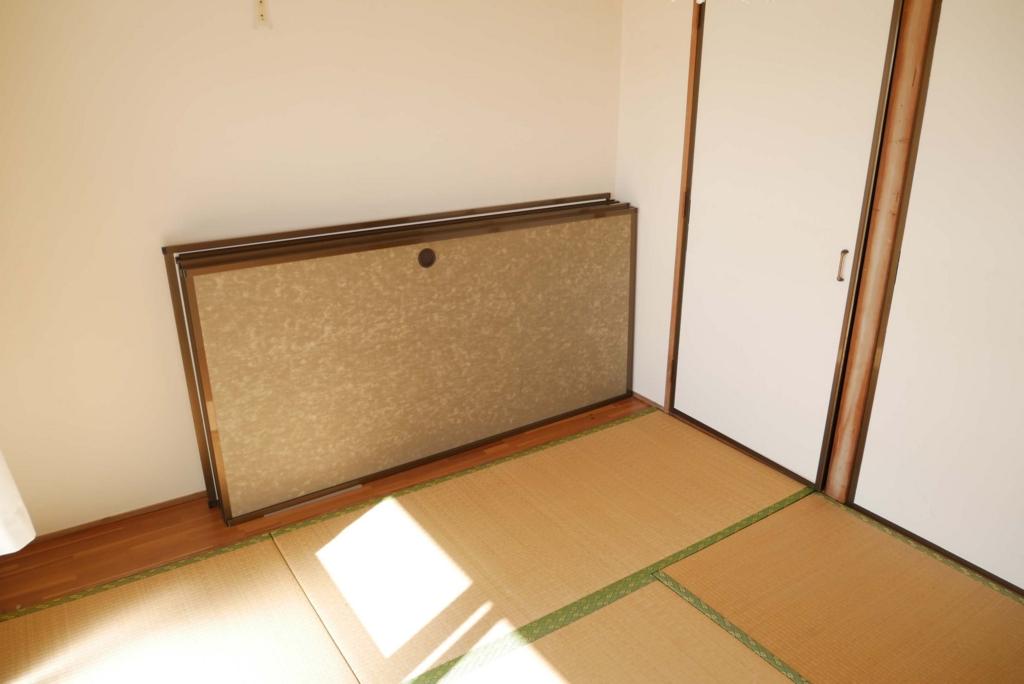 ふすまの収納場所は4畳半の部屋
