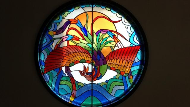 ステンドグラス鳳凰