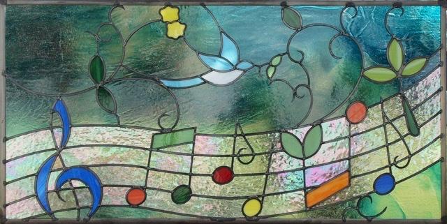 ステンドグラス 音符 楽譜